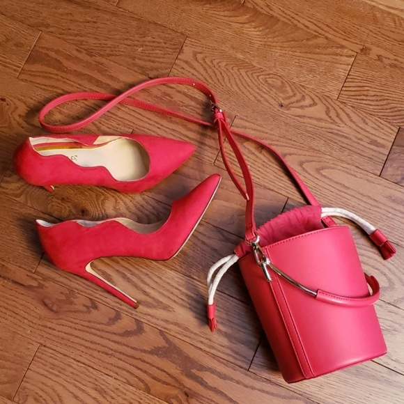 Who What Wear Handbags - WHO WHAT WEAR red bucket  bag.